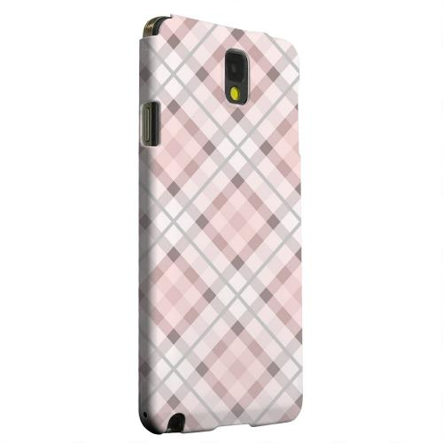 Geeks Designer Line (GDL) Samsung Galaxy Note 3 Matte Hard Back Cover - Pink/ Gray Plaid
