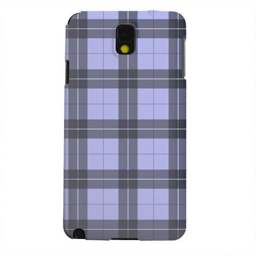 Geeks Designer Line (GDL) Samsung Galaxy Note 3 Matte Hard Back Cover - Scottish-Like Plaid in Purple