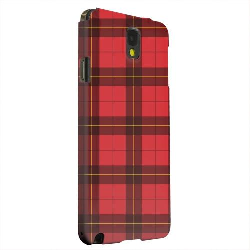 Geeks Designer Line (GDL) Samsung Galaxy Note 3 Matte Hard Back Cover - Scottish-Like Plaid in Red