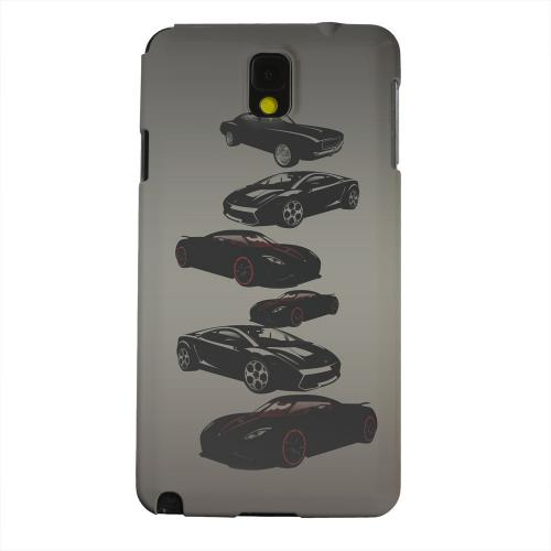 Geeks Designer Line (GDL) Samsung Galaxy Note 3 Matte Hard Back Cover - Sports Cars You Can't Afford