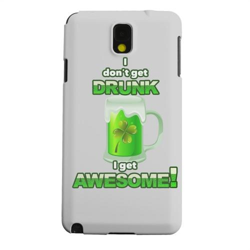 Geeks Designer Line (GDL) Samsung Galaxy Note 3 Matte Hard Back Cover - I Get Awesome