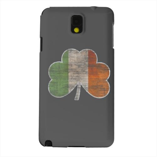 Geeks Designer Line (GDL) Samsung Galaxy Note 3 Matte Hard Back Cover - Irish Clover Flag