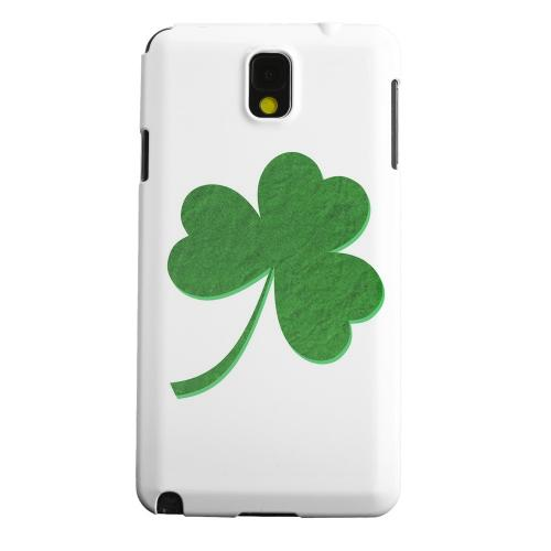 Geeks Designer Line (GDL) Samsung Galaxy Note 3 Matte Hard Back Cover - Simple Clover
