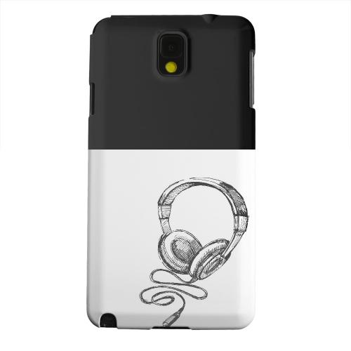 Geeks Designer Line (GDL) Samsung Galaxy Note 3 Matte Hard Back Cover - Head Bobbing Black