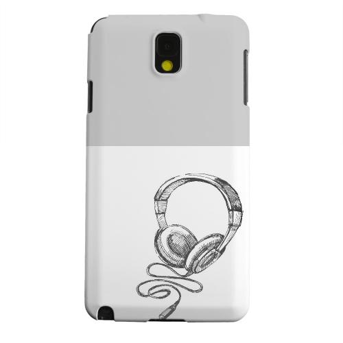 Geeks Designer Line (GDL) Samsung Galaxy Note 3 Matte Hard Back Cover - Head Bobbing Gray
