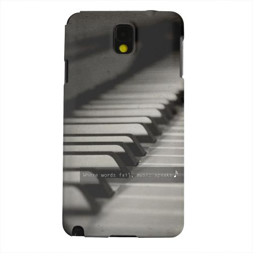 Geeks Designer Line (GDL) Samsung Galaxy Note 3 Matte Hard Back Cover - Music Speaks