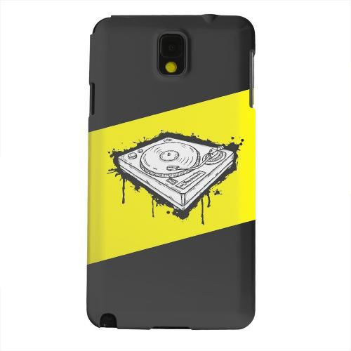 Geeks Designer Line (GDL) Samsung Galaxy Note 3 Matte Hard Back Cover - Wheel of Steel Yellow