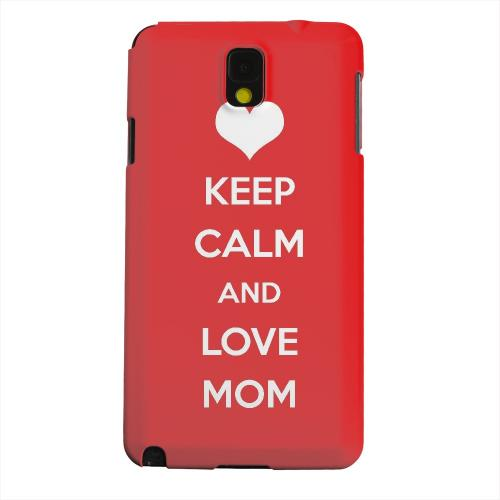 Geeks Designer Line (GDL) Samsung Galaxy Note 3 Matte Hard Back Cover - Love Mom