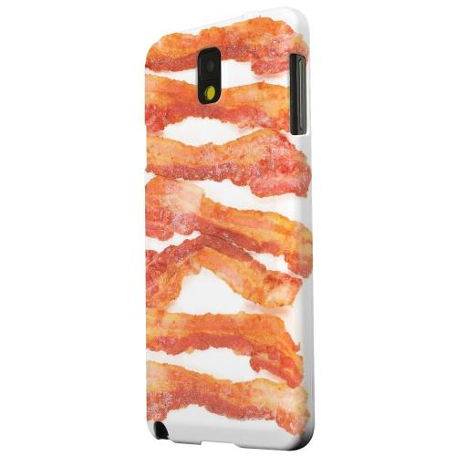 Geeks Designer Line (GDL) Samsung Galaxy Note 3 Matte Hard Back Cover - Bacon Goes Good