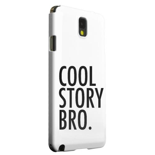 Geeks Designer Line (GDL) Samsung Galaxy Note 3 Matte Hard Back Cover - Cool Story Bro