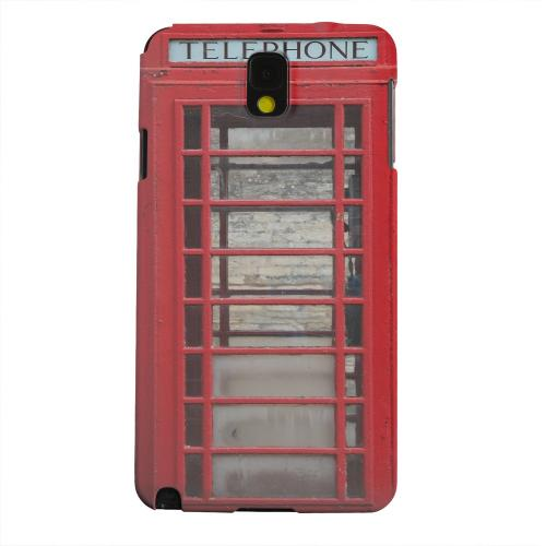 Geeks Designer Line (GDL) Samsung Galaxy Note 3 Matte Hard Back Cover - English Telephone Booth