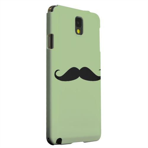 Geeks Designer Line (GDL) Samsung Galaxy Note 3 Matte Hard Back Cover - Mustache Greenish