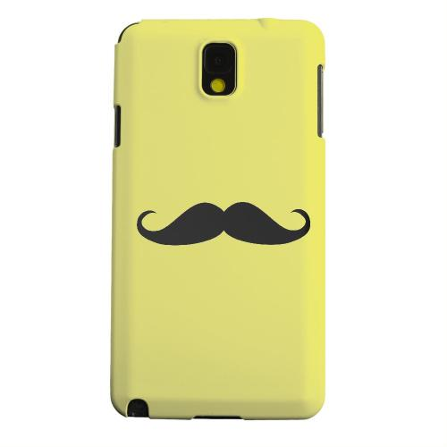 Geeks Designer Line (GDL) Samsung Galaxy Note 3 Matte Hard Back Cover - Mustache Yellow