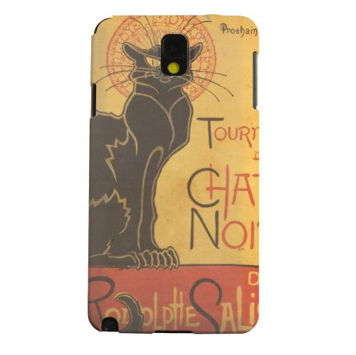 Geeks Designer Line (GDL) Samsung Galaxy Note 3 Matte Hard Back Cover - Le Chat Noir by Thophile-Alexandre Steinlen