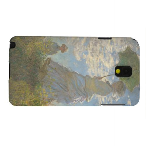 Geeks Designer Line (GDL) Samsung Galaxy Note 3 Matte Hard Back Cover - Woman with a Parasol by Claude Monet