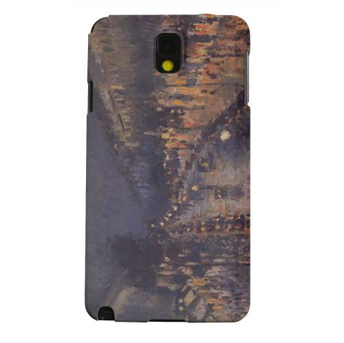 Geeks Designer Line (GDL) Samsung Galaxy Note 3 Matte Hard Back Cover - Boulevard Montmarte at Night by Camille Pisarro