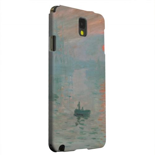 Geeks Designer Line (GDL) Samsung Galaxy Note 3 Matte Hard Back Cover - Impression Sunrise by Claude Monet