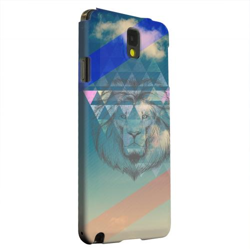 Geeks Designer Line (GDL) Samsung Galaxy Note 3 Matte Hard Back Cover - Majestic Lion in the Sky