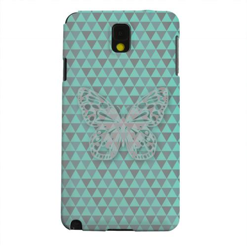 Geeks Designer Line (GDL) Samsung Galaxy Note 3 Matte Hard Back Cover - Butterfly Crypsis