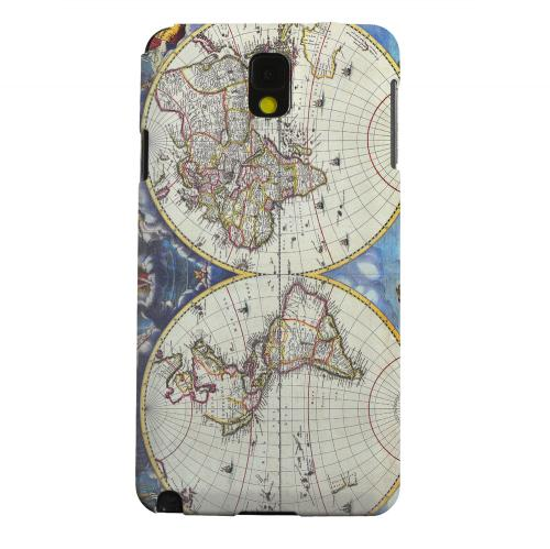 Geeks Designer Line (GDL) Samsung Galaxy Note 3 Matte Hard Back Cover - Terrarum Orbis Tabula Pictomap