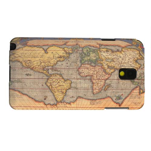 Geeks Designer Line (GDL) Samsung Galaxy Note 3 Matte Hard Back Cover - Ortelius World Map 1601
