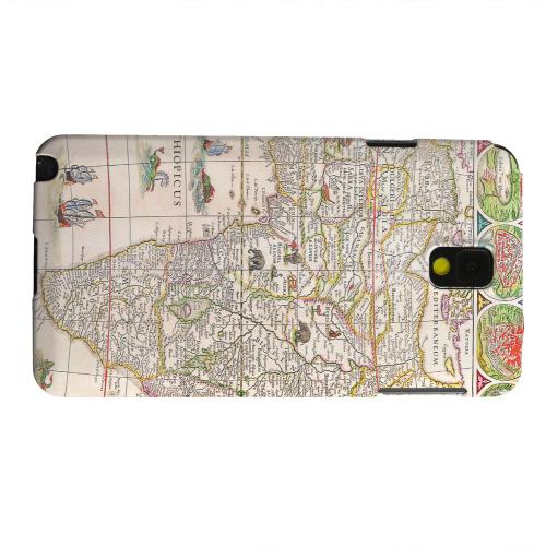 Geeks Designer Line (GDL) Samsung Galaxy Note 3 Matte Hard Back Cover - Map of Africae