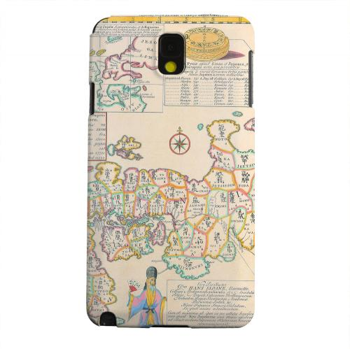 Geeks Designer Line (GDL) Samsung Galaxy Note 3 Matte Hard Back Cover - Old Japanese Empire Map