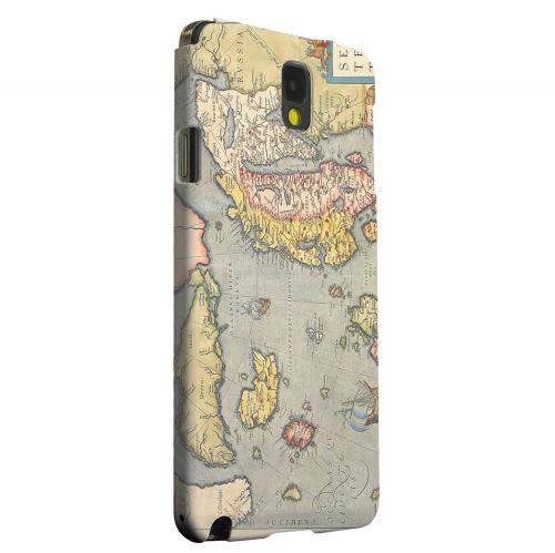 Geeks Designer Line (GDL) Samsung Galaxy Note 3 Matte Hard Back Cover - Ancient Map of Europe