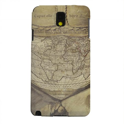Geeks Designer Line (GDL) Samsung Galaxy Note 3 Matte Hard Back Cover - Ancient Map Head