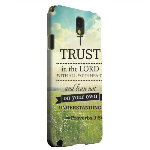 Geeks Designer Line (GDL) Samsung Galaxy Note 3 Matte Hard Back Cover - Proverbs 3:5