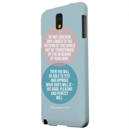 Geeks Designer Line (GDL) Samsung Galaxy Note 3 Matte Hard Back Cover - Romans 12:2