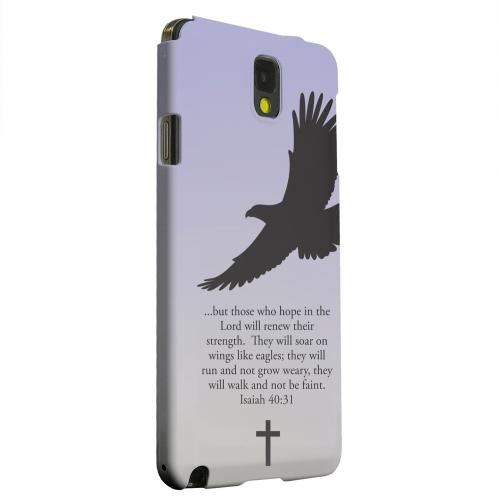 Geeks Designer Line (GDL) Samsung Galaxy Note 3 Matte Hard Back Cover - Isaiah 40:31 - Sleepy Grape