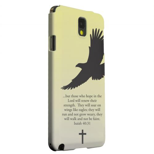 Geeks Designer Line (GDL) Samsung Galaxy Note 3 Matte Hard Back Cover - Isaiah 40:31 - Sunset Yellow