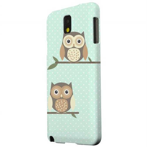 Geeks Designer Line (GDL) Samsung Galaxy Note 3 Matte Hard Back Cover - Retro Owls on Polka Dots