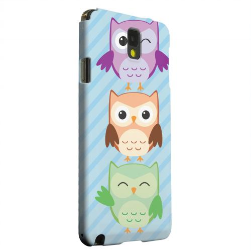 Geeks Designer Line (GDL) Samsung Galaxy Note 3 Matte Hard Back Cover - Happy Owl Pals