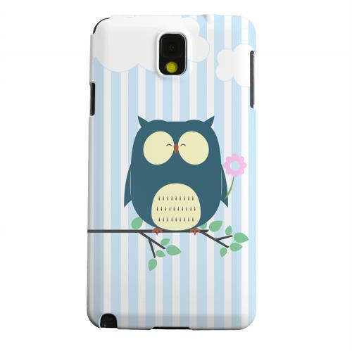 Geeks Designer Line (GDL) Samsung Galaxy Note 3 Matte Hard Back Cover - Fat Peaceful Owl on Tree Branch