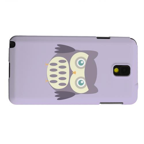 Geeks Designer Line (GDL) Samsung Galaxy Note 3 Matte Hard Back Cover - Chubby Purple Owl