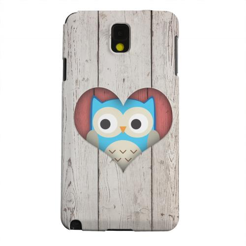 Geeks Designer Line (GDL) Samsung Galaxy Note 3 Matte Hard Back Cover - Peek A Blue Owl