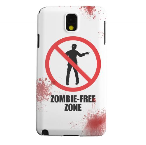 Geeks Designer Line (GDL) Samsung Galaxy Note 3 Matte Hard Back Cover - Zombie-Free Zone
