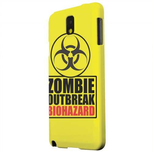 Geeks Designer Line (GDL) Samsung Galaxy Note 3 Matte Hard Back Cover - Zombie Outbreak Biohazard