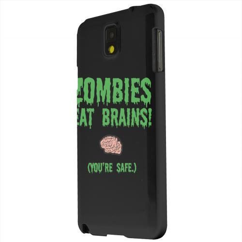 Geeks Designer Line (GDL) Samsung Galaxy Note 3 Matte Hard Back Cover - Zombies Eat Brains
