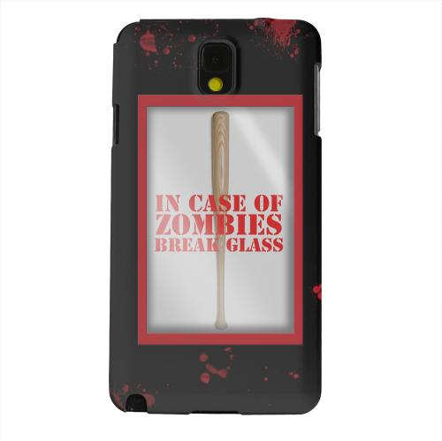 Geeks Designer Line (GDL) Samsung Galaxy Note 3 Matte Hard Back Cover - In Case of Zombies Break Glass