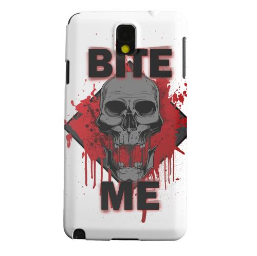 Geeks Designer Line (GDL) Samsung Galaxy Note 3 Matte Hard Back Cover - Bite Me on White
