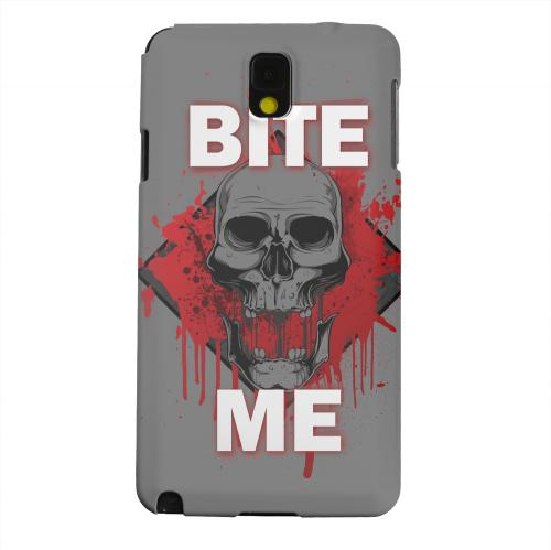 Geeks Designer Line (GDL) Samsung Galaxy Note 3 Matte Hard Back Cover - Bite Me on Gray