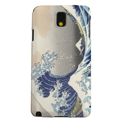 Geeks Designer Line (GDL) Samsung Galaxy Note 3 Matte Hard Back Cover - Katsushika Hokusai The Great Wave Off Kanagawa