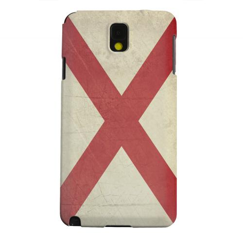 Geeks Designer Line (GDL) Samsung Galaxy Note 3 Matte Hard Back Cover - Grunge Alabama