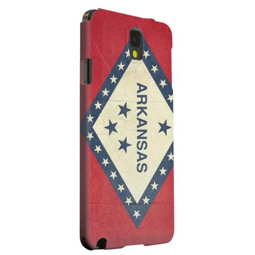 Geeks Designer Line (GDL) Samsung Galaxy Note 3 Matte Hard Back Cover - Grunge Arkansas