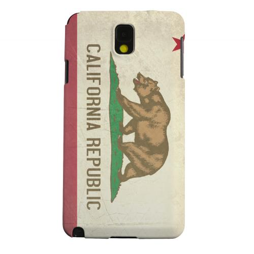Geeks Designer Line (GDL) Samsung Galaxy Note 3 Matte Hard Back Cover - Grunge California