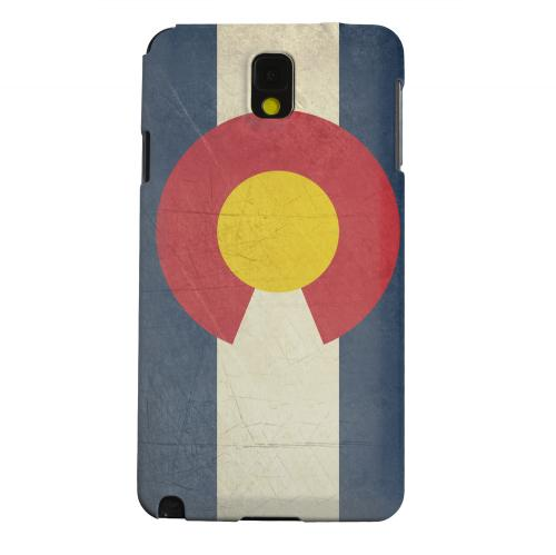 Geeks Designer Line (GDL) Samsung Galaxy Note 3 Matte Hard Back Cover - Grunge Colorado
