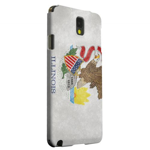 Geeks Designer Line (GDL) Samsung Galaxy Note 3 Matte Hard Back Cover - Grunge Illinois